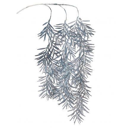 7143/0041-4/10-1(Promo) Ветка Розмарина ампельная искусственная, светло-голубая, h 100 см (70+30)
