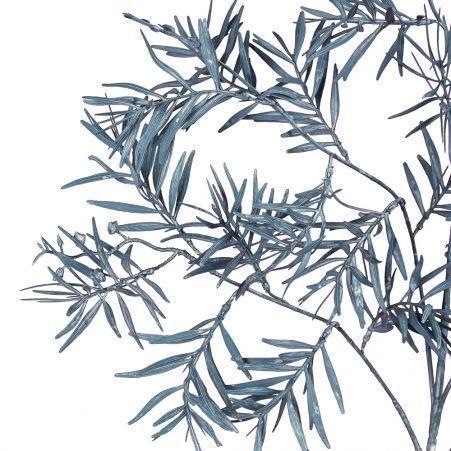 7143/0041-5/10-2 Ветка Розмарина искусственная, темно-голубая,  h 95 см (55+40)
