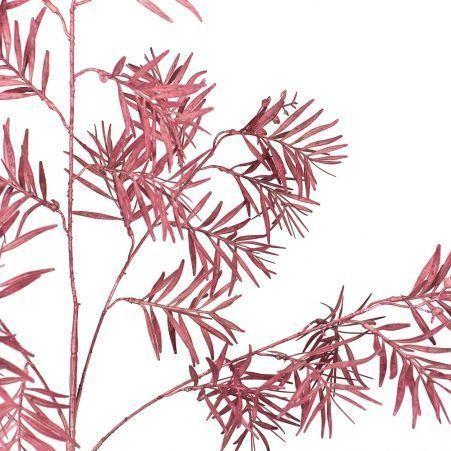 7143/0041-5/11-1 Ветка Розмарина искусственная, светло-бордовая, h 95 см (55+40)