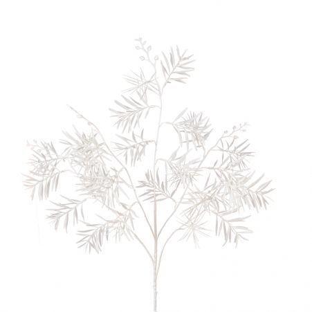 7143/0041-5/4 Ветка Розмарина искусственная, кремовая, h 95 см (55+40)