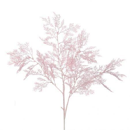 7143/0041-8/1 Ветка Аспарагуса искусственная, розовая, h 95 см (55+40)