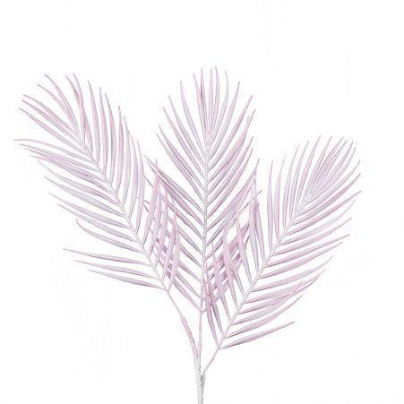 7143/0047-3/5 Ветка Пальмы искусственная, бледно-розовая, h 68 см (48+20)