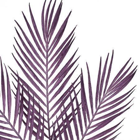7143/0047-3/8 Ветка Пальмы искусственная, сиреневая, h 68 см (48+20)