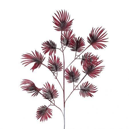 7143/0047-6/25 Ветка Веерной пальмы искусственная, пепельно-пурпурная, мелкая, h 85 см (55+30)