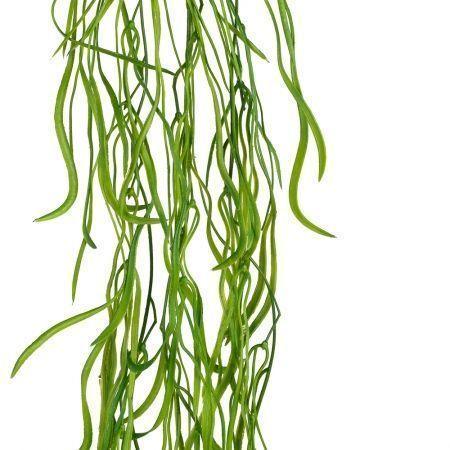 7143/0016-30 Трава ампельная искусственная, h 85 см (75+10) зеленая
