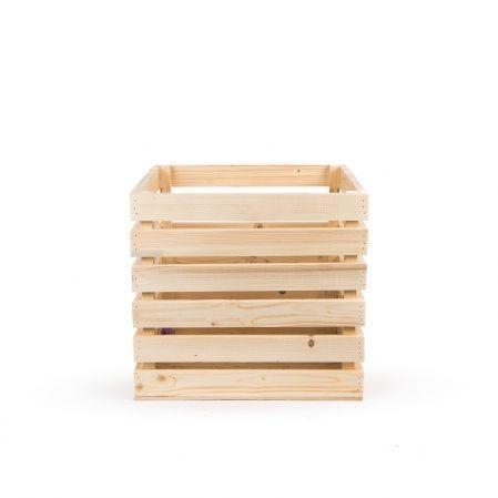 811/08-10 Ящик деревянный 35*35*h35см (натуральный)