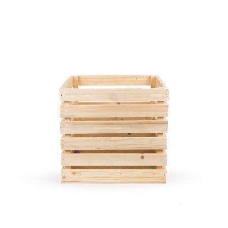 811/08-10 Ящик деревянный 36*36*h36см (натуральный)