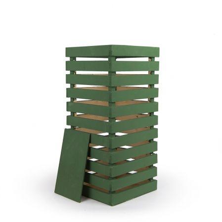 811/08-3/1 Ящик деревянный (зеленый) 30*30*h66см