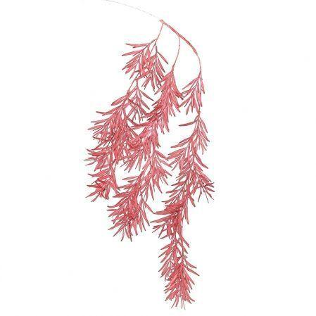 7143/0041-4/11 Ветка Розмарина ампельная искусственная, бордовая, h 100 см (70+30)