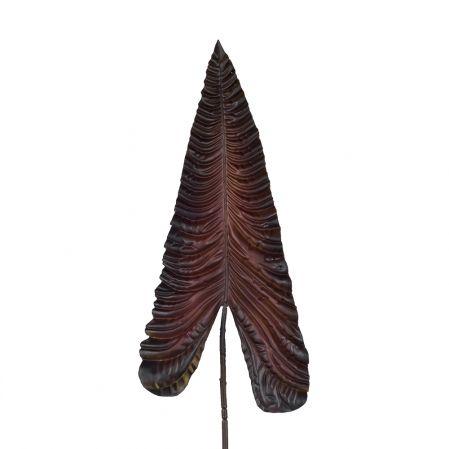 7143/0030-13/11(Promo) Лист Каладиума искусственный, бордовый, гигант h 107 см (67+43)