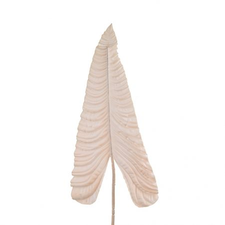7143/0030-13/13 Лист Каладиума искусственный, персиковый, гигант h 107 см (67+43)