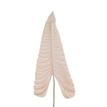 7143/0030-13/13(Sale) Лист Каладиума искусственный, персиковый, гигант h 107 см (67+43)