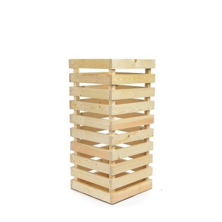 811/08-3/2 Ящик деревянный (натуральный) 30*30*h66см