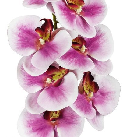 401/0187-8 Орхидея искусственная латекс h 95см сирен. (9г.)