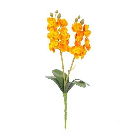 7141/0455/18 Орхидея мини *2  h-25см (оранж.)