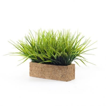 ТД0512 Трава короткая h17см в кокосовом боксе 25*8*8