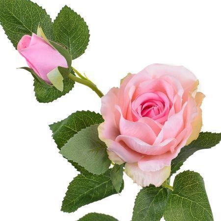 7141/9182-1/5Р Роза ветка (голова+1бутон) 70см (св.розов.)
