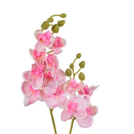 7141/0452/1 Орхидея с листом (розов.) 40см
