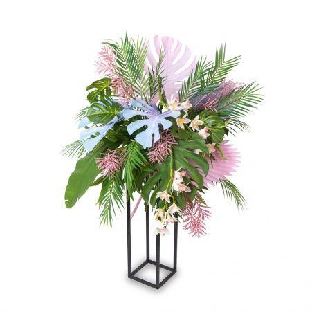 """КМП1 Композиция """"Тропики с орхидеей"""" h75-80см на металлической подставке h70см"""