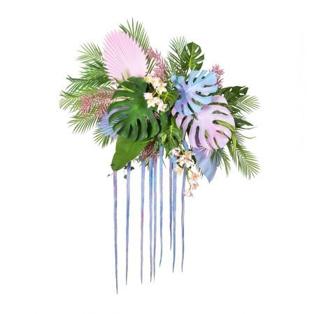 """ФК07(Promo) Фитокартина """"Тропики с орхидеей"""" (гот.изделие 95*h-200см)"""