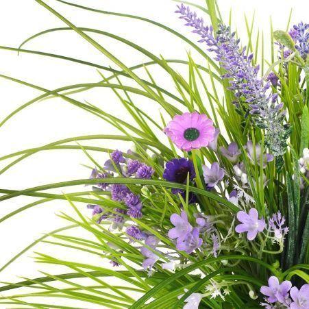 КС109 Разнотравье (фиолет) в кашпо d 11см (55*55*h 40)