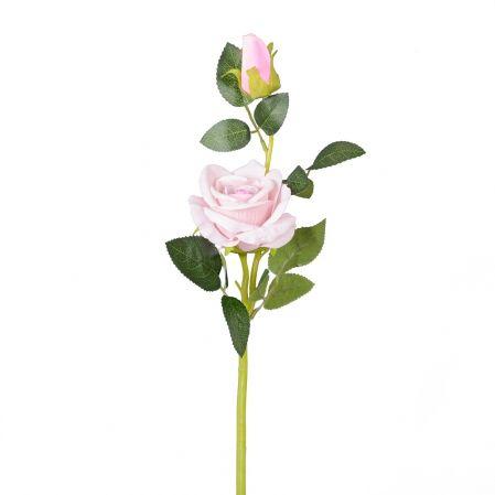 7141/0044-1/8Р Роза искусственная (сиреневая) h 30см (1г.2б.)