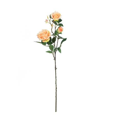 401/0008-13L Роза искусственная бархатная (персик)  (2г.1б.)