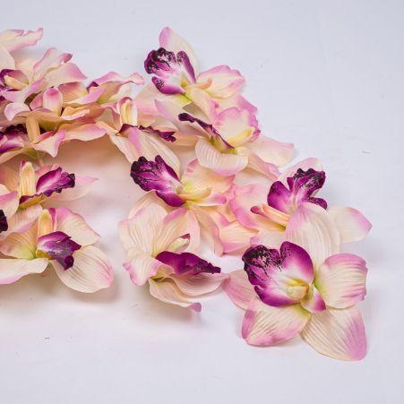 406/0024-1В Голова орхидеи сатиновая d16см,розов. (24шт/уп)