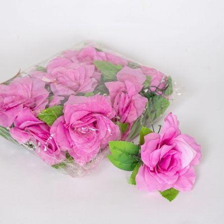 406/0674B  Голова розы с гипсофилой(в уп. 12 шт.)