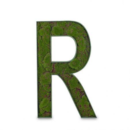 """БУК R02 Декоративная Буква """"R"""" со мхом (48х8хh88)"""