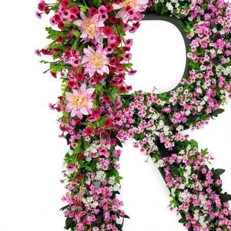 """БУК R03 Декоративная Буква """"R"""" с цветами (48х8хh88)"""