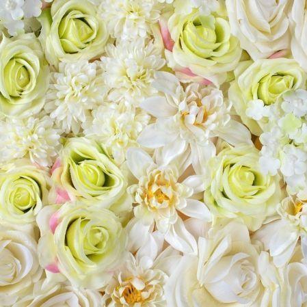 Фитостена 32(з) Роза/хризантема (бело-зеленая)