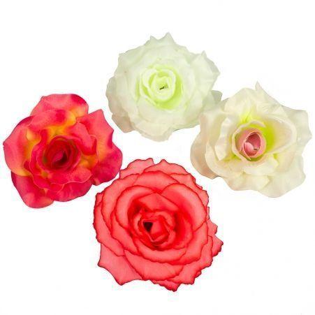 406/0066В Роза сатиновая голова (6 шт/уп)