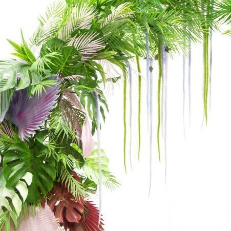 ДА01(А) Декоративная арка с тропическими растениями 250*h290см(силикон)