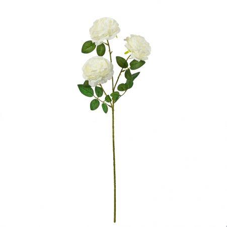 7141/0044-6/23Р Роза пионовидная искусственная  h 64см белая (3 г)