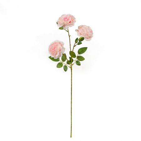 7141/0044-6/5Р Роза пионовидная искусственная  h 64см бледно-розовая (3 г.)