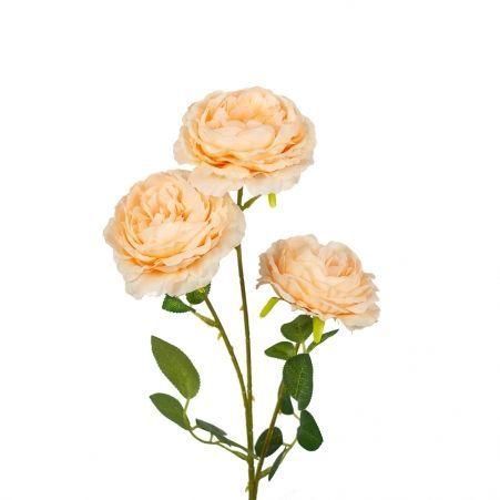 7141/0044-6/13Р Роза пионовидная искусственная  h 64см персиковая (3 г.)