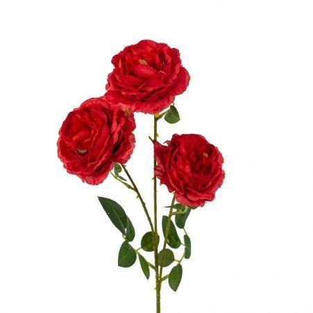 7141/0044-6/2Р Роза пионовидная искусственная  h 64см красная (3г )