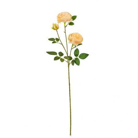 7141/0044-4/13Р Роза пионовидная искусственная  h 64см персиковая (2г.1б.)
