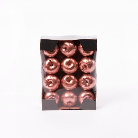 11/4485C Яблоко НГ с блёстками d5.5см (12шт/уп)