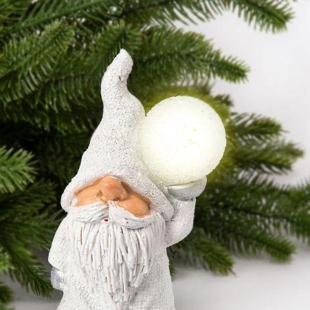 11/7599А Гном керамический со светящимся шариком h16см