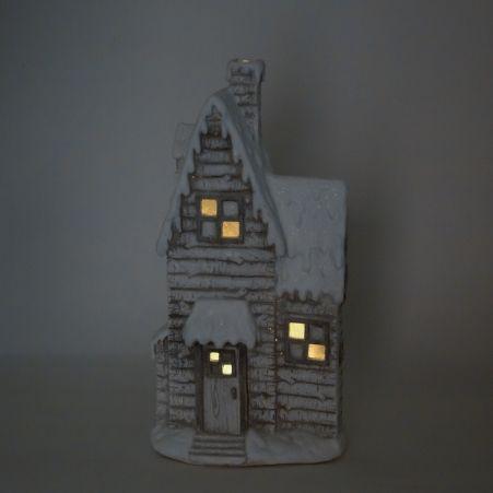 11/7529А Домик керамический с подсветкой h62см