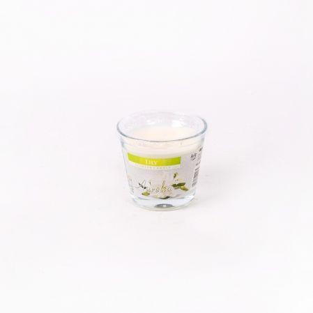 Свеча-стакан с крышкой Цветочный микс  sn90