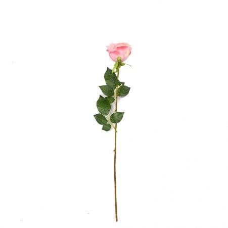 401/1072-1C Роза одиночная (розовая) h68см