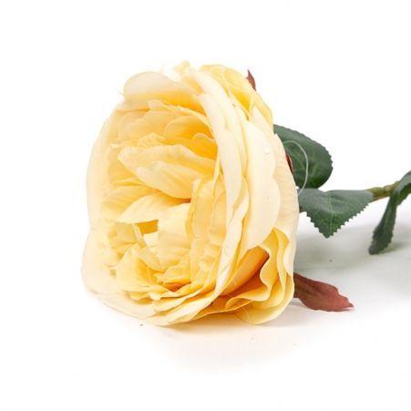401/6063-13С Роза одиночная d10; h68см (персиковая)