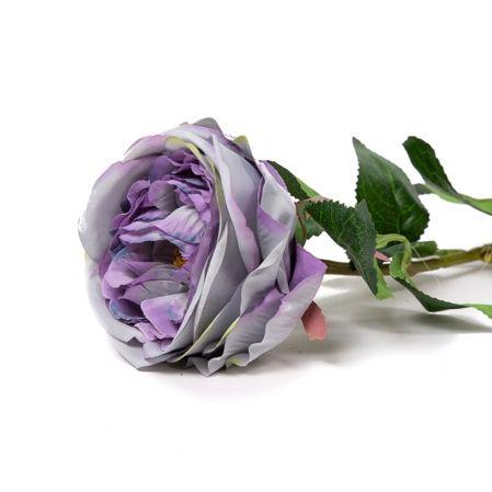 401/6063-17С Роза одиночная d10; h68см (фиолетовая)