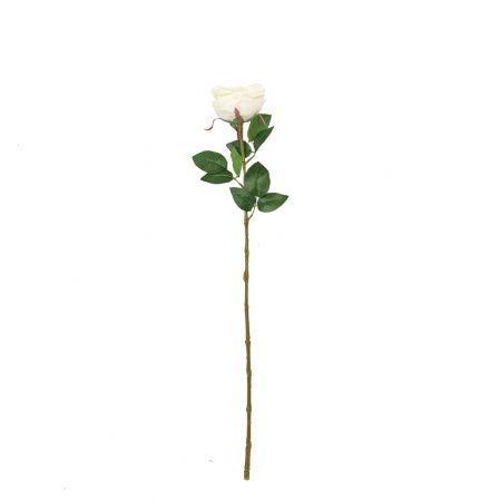 401/6063-4С Роза одиночная d10; h68см (кремовый)