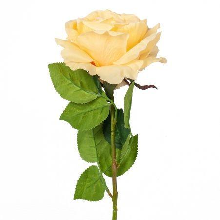 401/0215-3B Роза h78см (желтая)