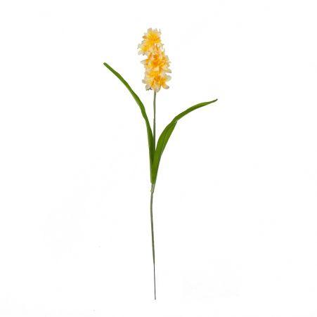 401/0184-3В Гиацинт h59см (желто-оранж)