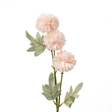 401/0237-5В Хризантема кустовая h64см (бледно-розовая)
